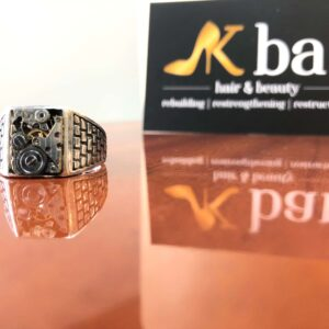 Italian Designer Clock Face Ring #12
