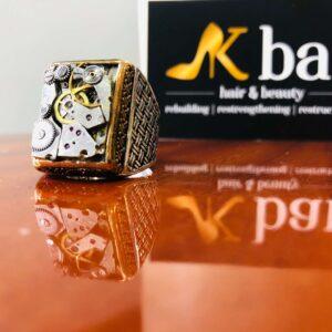 Italian Designer Clock Face Ring #17
